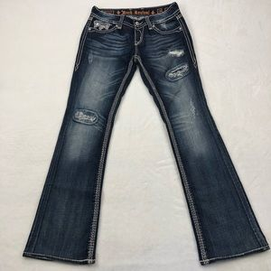 ROCK REVIVAL ALANIS BOOT CUT SEQUINS Jeans 29/32